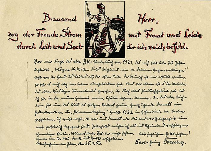 Schülerbibelkreise - Gruß von Karl-Heinz Drescher zum Geburtst