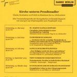 Kirche unterm Preußenadler – eine Veranstaltungsreihe