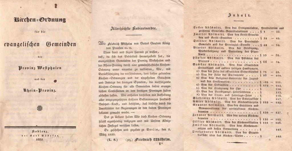 Kirchenordnung 1835