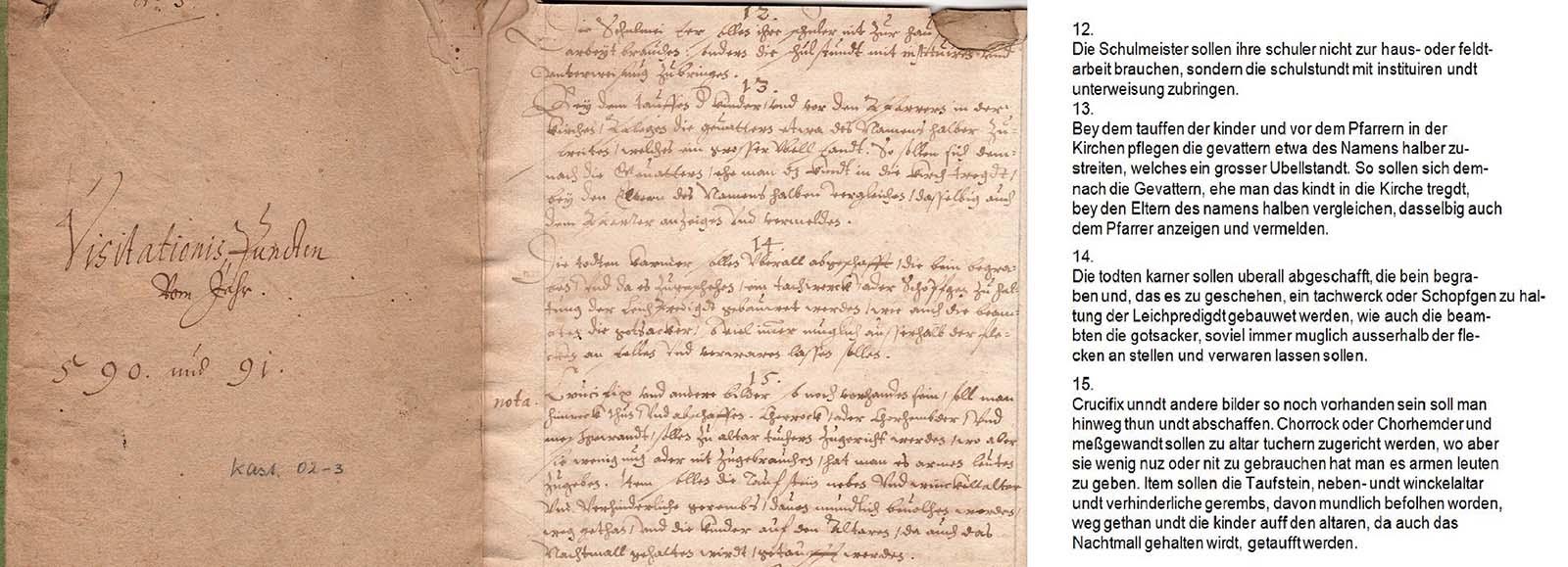 Visitationsprotokoll Kirchengemeinde Kastellaun 1590/91
