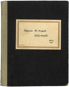 Schreibbuch von Heinrich Held