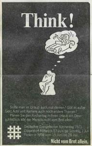 Werbenazeige für den Kirchentag 1973 in Düsseldorf