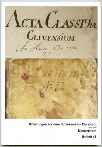Sitzungsberichte der Convente der Reformierten Klever Classis von 1671 bis 1719, bearb. v. H. Kleinholz u. M. Knieriem