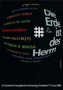 Plakat zum Kirchentag 1985 in Düsseldorf