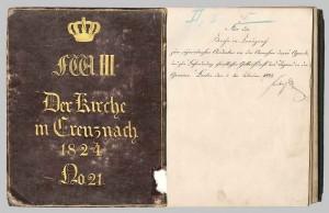 Kirchen-Agende Kreuznach, ca. 1824, No 21; aus Bestand: AEKR Düsseldorf- Archivbibliothek JII K 031