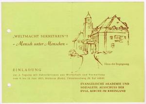 Sekräterinnentagung 1955