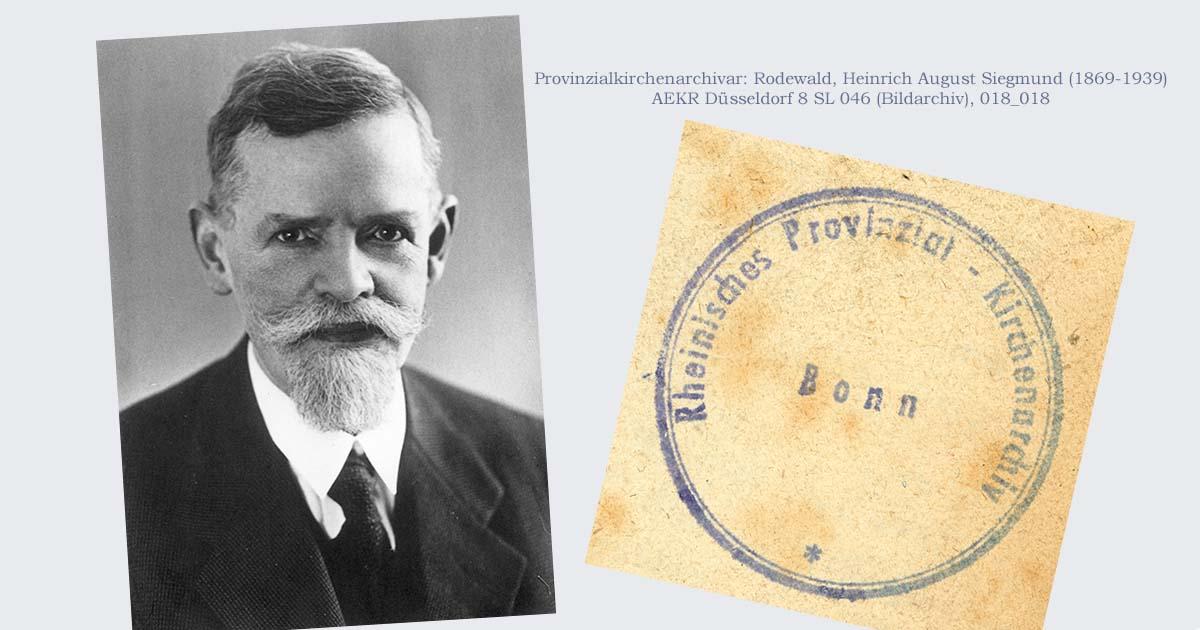 Provinzialkirchenarchivar Heinrich Rodewald