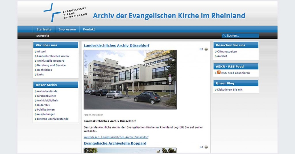 Archiv im Web 1.0