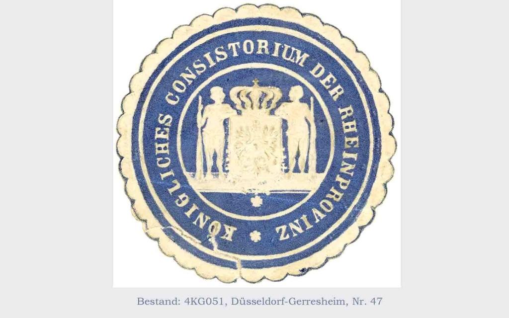 Siegel des Königlichen Konsistoriums der Rheinprovinz
