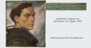 Lutherbild Original Pastellzeichnung von Karl Bauer