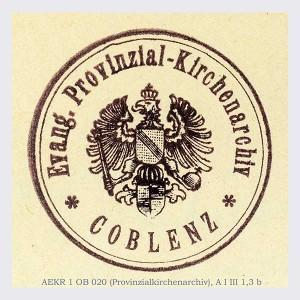 Siegel Rheinisches Provinzial-Kirchenarchiv Koblenz
