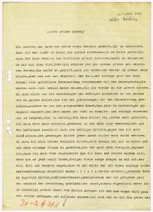 Brief eines Düsseldorfer Pfarrers an Rudolf Harney, 4.7.1943, 4KG 005