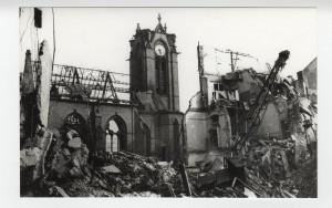 Zerstörte Christuskirche, ca. 1945, 8SL 046 Bildarchiv, Sammlung Hans Lachmann