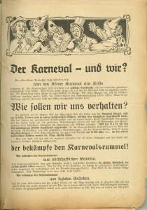Der Karneval und wir? aus Bestand: AEKR Düsseldorf 1 OB 002 (Rheinisches Konsistorium), 809;