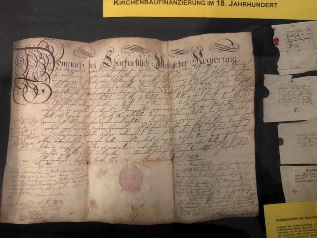 Das Kollektenprivileg für die reformierte Gemeinde Münster bei Bingen vom 30. April 1748