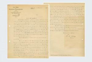 Gehaltsinflation, Schreiben Präses Wolff an Pfarrer Wilhelm Gustav Menn, aus Bestand: AEKR Düsseldorf 6HA 008 (Handakten Wilhelm Menn), Sig. 1;