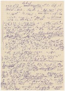 Stenografierte Notizen von Pfarrer Hans Josten, ca. 1959 (6HA 029)