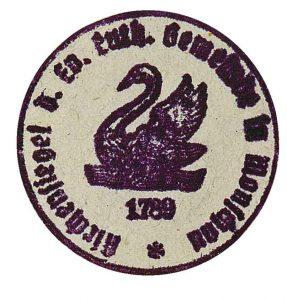 Altes Siegel der lutherischen Gemeinde in Monschau