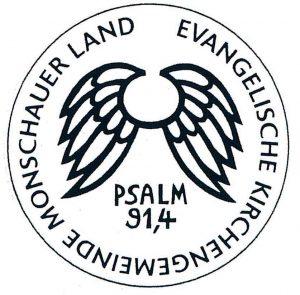Siegel der Evangelischen Kirchengemeinde Monschauer Land Psalm 91,4
