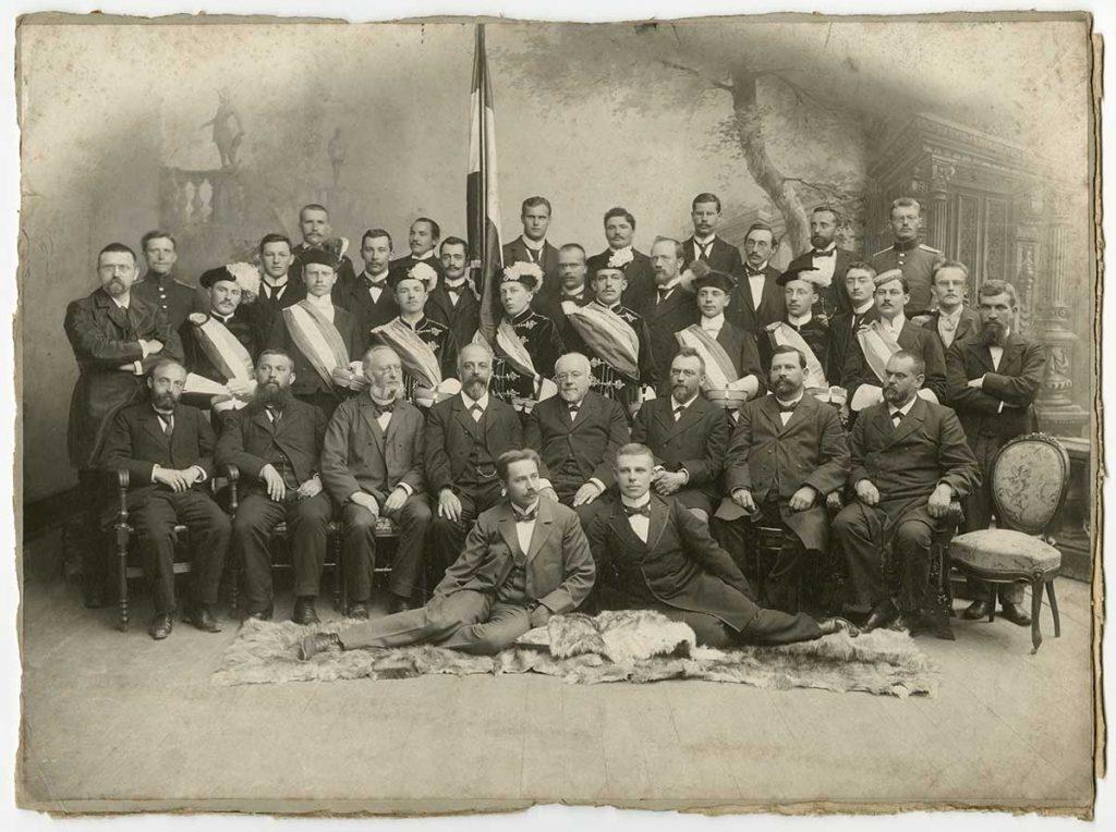 Unbekannte Gruppenaufnahme ca. 1900, Fotosammlung; aus Bestand: AEKR Düsseldorf 8SL 046 (Bildarchiv), 030_0003