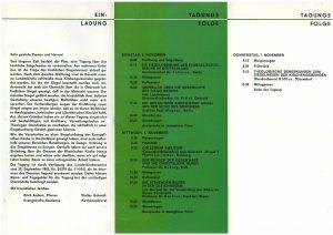 Programmflyer Seite 2 mit dem Tagungsprogramm
