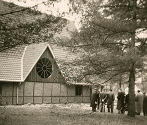 Kapelle in Stephnasheide / Kinderdorf Besuch des Predigerseminars Wittenberg 29.03.-11.04.1954 Bestand: Handakten Heinrich Held, Signatur: 6HA006, Nr. 155