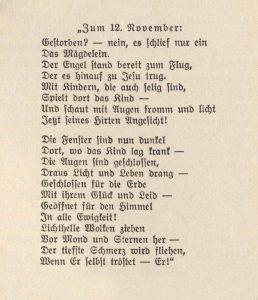 Gedicht von Pfarrer Samuel Keller, aus Bestand: AEKR Archivbibliothek, BK3002
