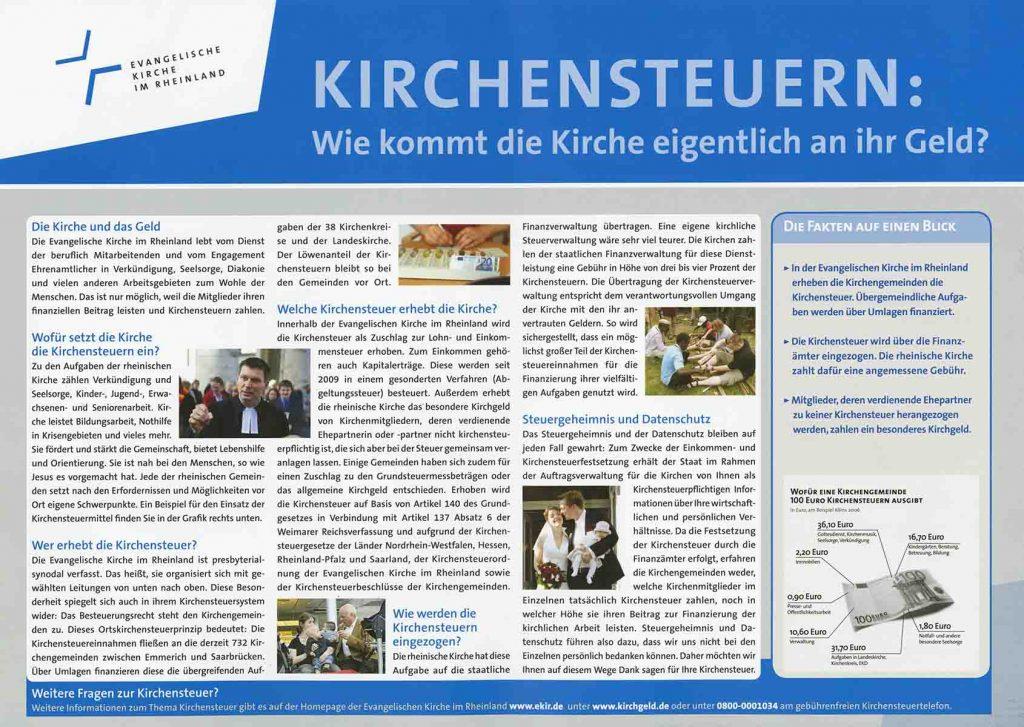 Kirchensteuerkampagne, 2014, aus Bestand: AEKR Düsseldorf 8SL 049 (Plakatsammlung), 1468;