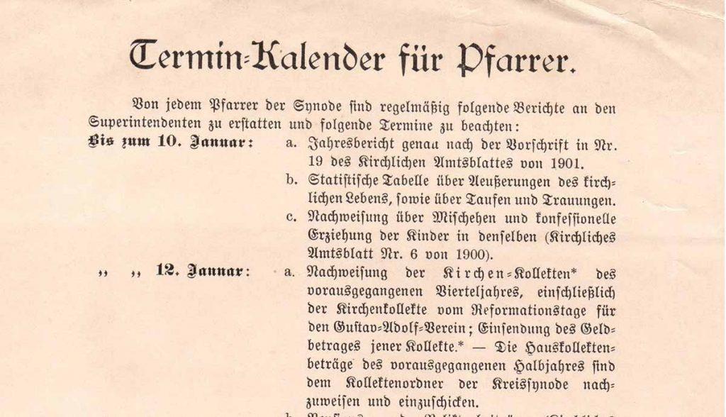 Pfarrer als Gemeindemanager um 1900, aus Bestand: AEKR Boppard