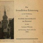 Trotz Notzeiten und Papierknappheit: An die Einführung von Pfarrer Heiermann in Lennep am 3. Advent 1946 erinnert eine gedruckte Predigt