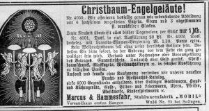 Christbaum Engelgeläute 1906, Evangelischer Hausfreund : Wochenbl. für Stadt u. Land Kreuznach, 25. November 1906, Nr. 47, S.375, aus Bestand: AEKR Bibliothek ZK 028