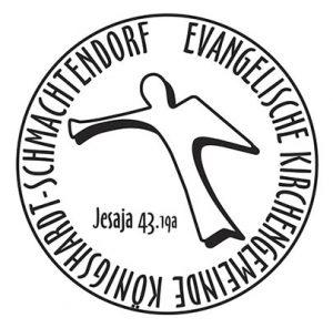 """Siegelumschrift """"Evangelische Kirchengemeinde Königshardt-Schmachtendorf"""""""