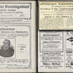 Reformationsjubiläum 1917:  Ankündigung von Festgottesdiensten