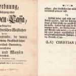 Weihnachtsaktion gegen Altersarmut Anno 1749