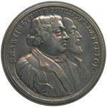 Eine Schraubmedaille zum 200-jährigen Jubiläum des Augsburger Bekenntnisses 1730