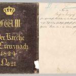 Der preußische König Friedrich Wilhelm III. stiftet eine Kirchen-Agende für die Evangelische Kirchengemeinde Kreuznach