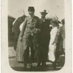 Zwei Deutsche auf dem Bahnhof von Aleppo 1915