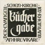 """""""Büchergabe"""": Die rheinische Landeskirche förderte die Beschaffung theologischer Literatur für ihre Vikare"""