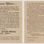 König Friedrich Wilhelm von Preußen bittet um Spende für die Brandopfer in Hamburg