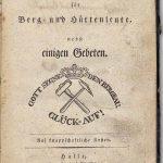 Gesangbuch für Berg- und Hüttenleute von 1832