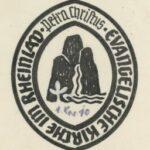Das Siegel der Landeskirche: Es hätte auch so aussehen können