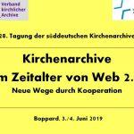 Süddeutscher Kirchenarchivtag in Boppard 2019