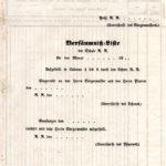 Bestrafung bei Schulversäumnissen im Jahr 1845