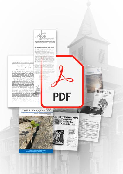 Gemeindebriefe aus den letzten 70 Jahren