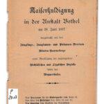 Huldigung für Kaiser Wilhelm II. 1897 in Bethel mit Beteiligung aus dem Wuppertal