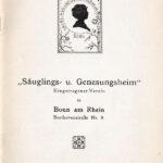 Bittbrief des Vereins Säuglings- und Genesungsheim Bonn im November 1918 um Unterstützung