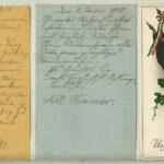 Sammlung von Dankesgrüßen auf Postkarten