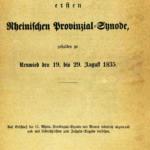 Quellentexte zu den rheinischen Provinzialsynoden online